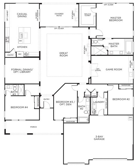 floor plans for single story homes this layout with rooms single story floor plans one story house plans pardee