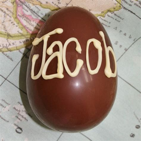 Handmade Easter Eggs - handmade personalised easter egg by the chocolate deli