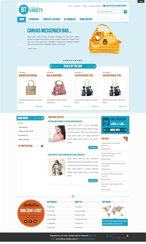 bt variety joomla simple ecommerce template
