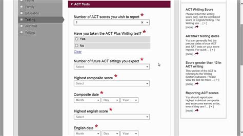 What Does Sectioned by Common Application Walkthrough Part 5 Testing