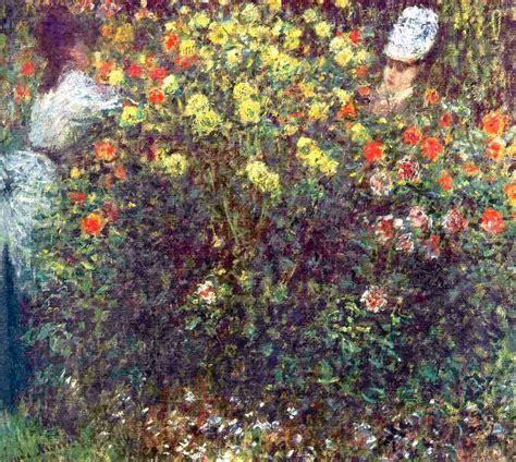 Monet In The Garden by In The Garden Claude Monet Wikiart Org