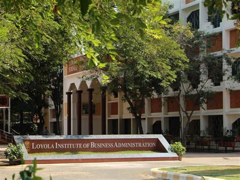 Loyola Chennai Executive Mba by Loyola Institute Of Business Administration Liba Chennai