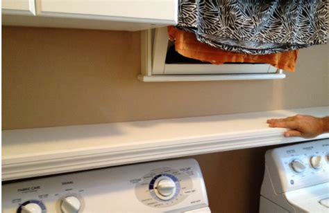 Washer Dryer Shelf casalupoli laundry room update the washer dryer shelf