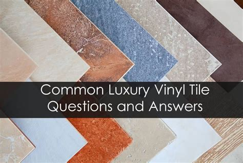 luxury vinyl tile questions and answers in michigan