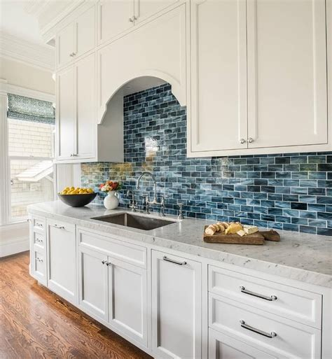 25 best ideas about blue backsplash on blue