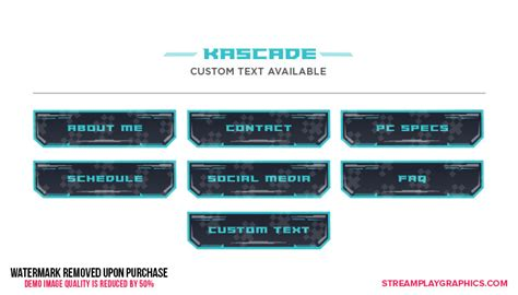Twitch Panels Templates Premade Images For Your Stream Twitch Info Templates
