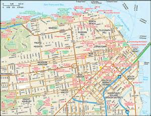 Map Of Downtown San Francisco by San Francisco Map Guide To San Francisco California