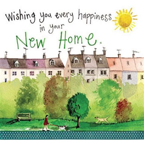 new home card wishing you every happiness in your new home