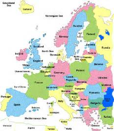 Europe Country Map by Maps Of Europe Region Country