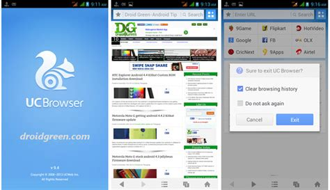 browser for android uc browser apk for android updated with fast speed droidgreen