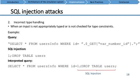 web security sql injection