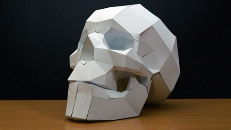 Papercraft Skull Timelapse Youtube Free Papercraft Templates Pdf
