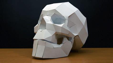 cardboard skull template papercraft skull timelapse