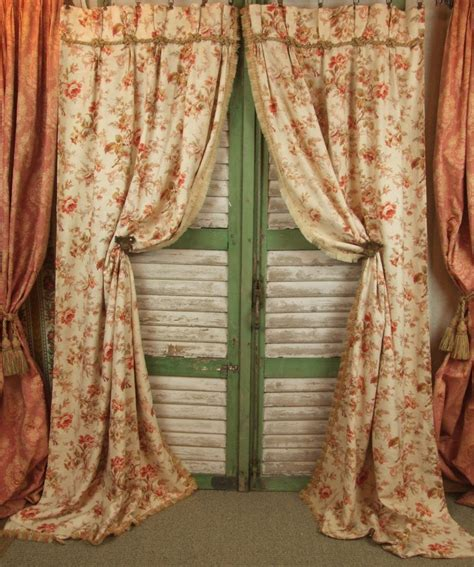 Cretonne Curtains b456 s sublime pair antique cretonne curtains passementerie trim c1900 la 201 toffe