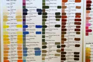 dan becker s paint swatch charts