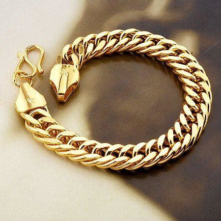 cadenas de oro versace para hombre fashion jewelry 10mm vogue18k yellow gold filled bracelet