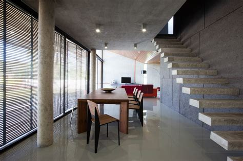 concrete ceiling gallery of w house idin architects 16