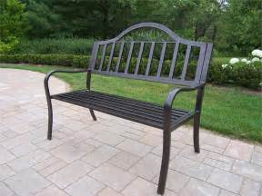 Patio Bench Iron Outdoor Metal Garden Bench