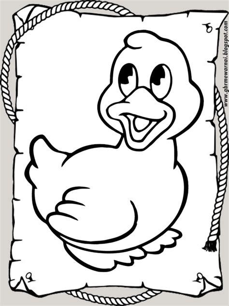 mewarnai gambar anak bebek lucu banget  tk  sd