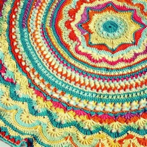 crochet rug pattern diy crochet mandala rug artistic patterns the whoot