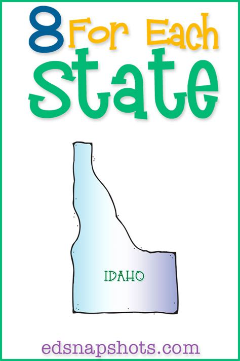 state id template eight for each state idaho