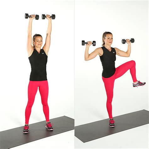 standing ab exercises with weights popsugar fitness