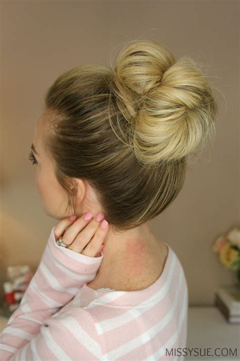 bun hairstyles at home 3 messy buns missy sue bloglovin