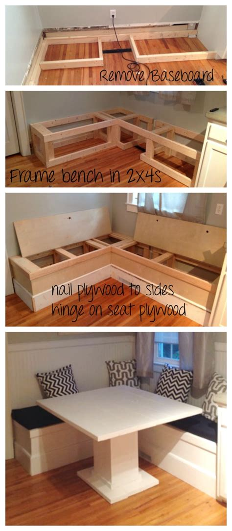 diy projects storage white diy breakfast nook with storage diy projects