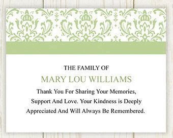 thank you letter after funeral for newspaper 17 best ideas about funeral thank you cards on