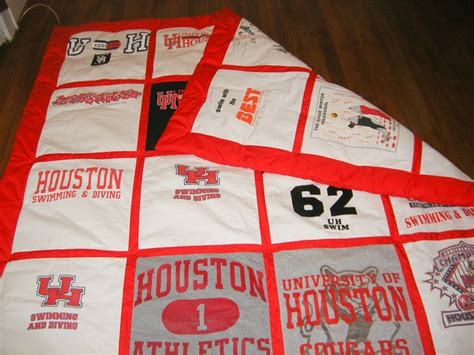 T Shirt Quilt Houston by Quilts And Lasting Memories Out Of Your Favorite T