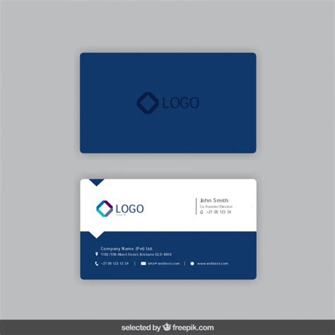 Business card in dark blue color Vector   Free Download