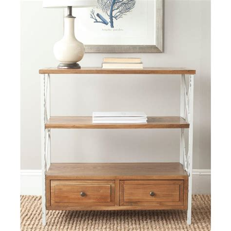 home depot console safavieh chandra oak storage console table amh6551c the