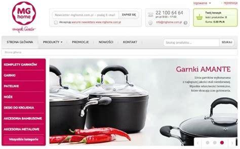 sklep internetowy dla nowej marki magdy gessler mg home