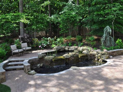 Tiered Backyard Landscaping Ideas Tiered Patio Designs Tiered Landscape Pond Ideas River Rock Landscaping Ideas Interior Designs