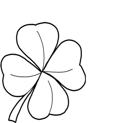 coloring pages of four leaf clover printables four leaf clover good coloring pages coloring