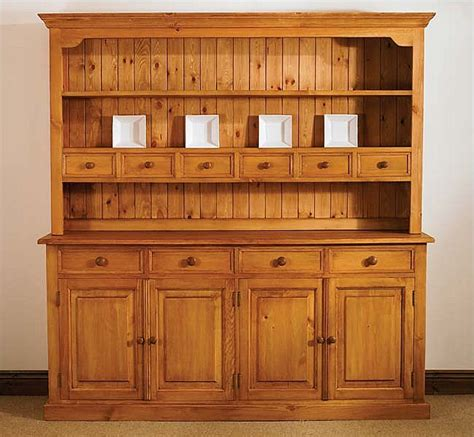 pine furniture oxford dresser wall unit large