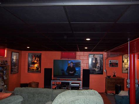 The Black Ceiling by Black Ceiling Tiles For Beautiful Home