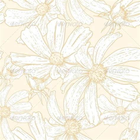 seamless vintage floral background graphicriver