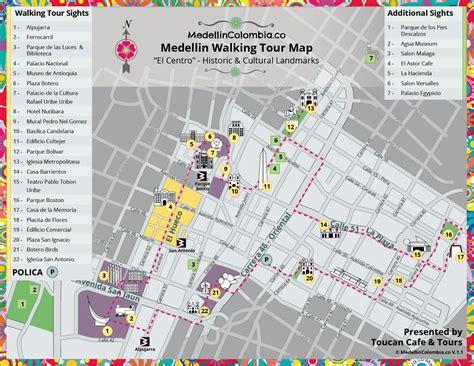 walking maps medellin walking tour map medellincolombia co