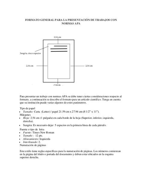 plantilla para tesis con normas apa formato apa formato general para la presentaci 243 n de trabajos con