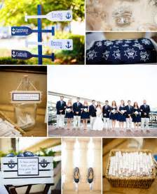 Classic navy blue and white nautical theme wedding ideas