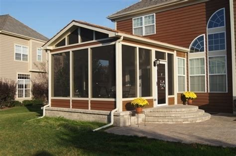 backyard screened porch paver patios columbus decks porches and patios by