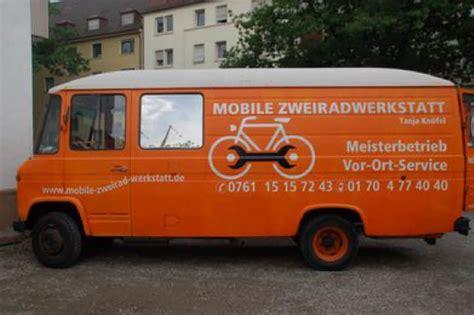 Werkstatt Mobil by Mobile Zweirad Werkstatt Fahrrad Werkstatt Auf Vier