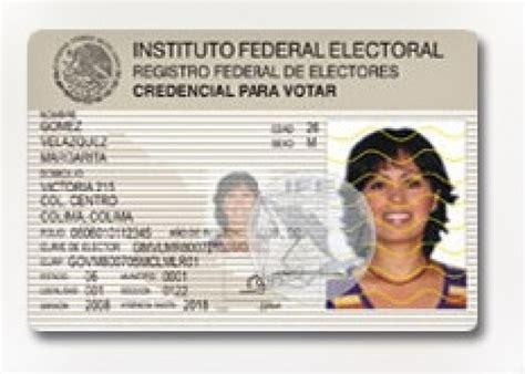 formato credencial de elector formato credencial de elector dof diario oficial de la