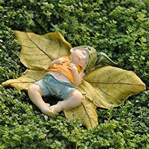 amazon garden amazon com miniature fairy garden leaf baby with shirt
