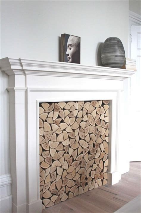 decorative logs for bedroom fireplace uk contemporary
