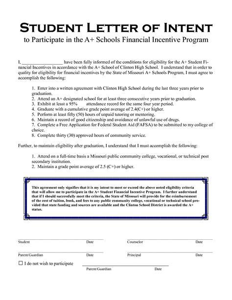 Letter Of Intent Undergraduate Exle homeschool letter of intent best custom paper writing