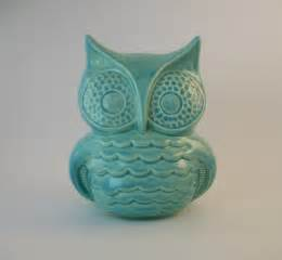 owl decor handmade vintage ceramic owl in by tlcceramicsil