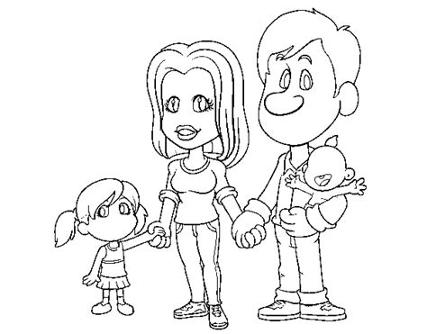 coloring pages happy family happy family coloring page coloringcrew com