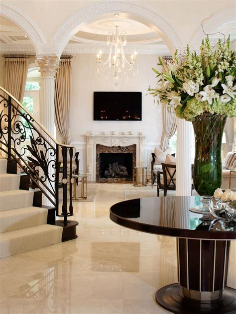 entrance foyer elegant black and white entryway dahlia mahmood hgtv